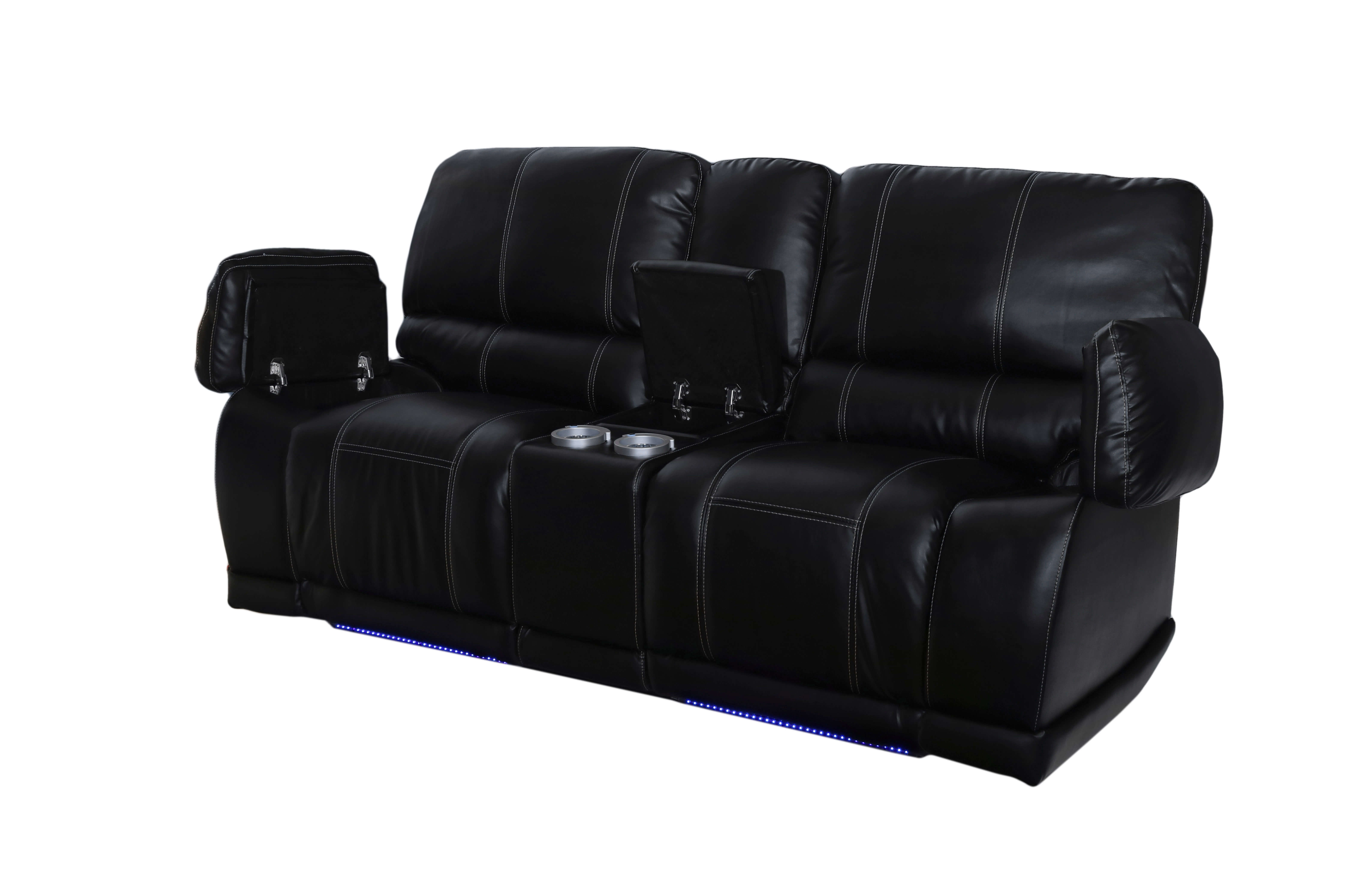 Most Up To Date Wilmington Nc Sectional Sofas With Electra Power Reclining Sectional With Led Lights (View 10 of 15)