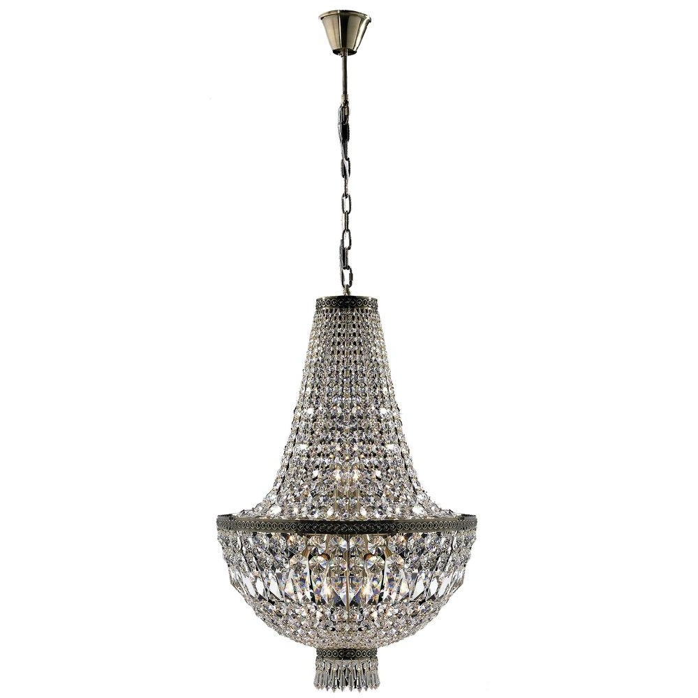 Most Up To Date Worldwide Lighting Metropolitan Collection 8 Light Antique Bronze Throughout Bronze And Crystal Chandeliers (View 15 of 15)