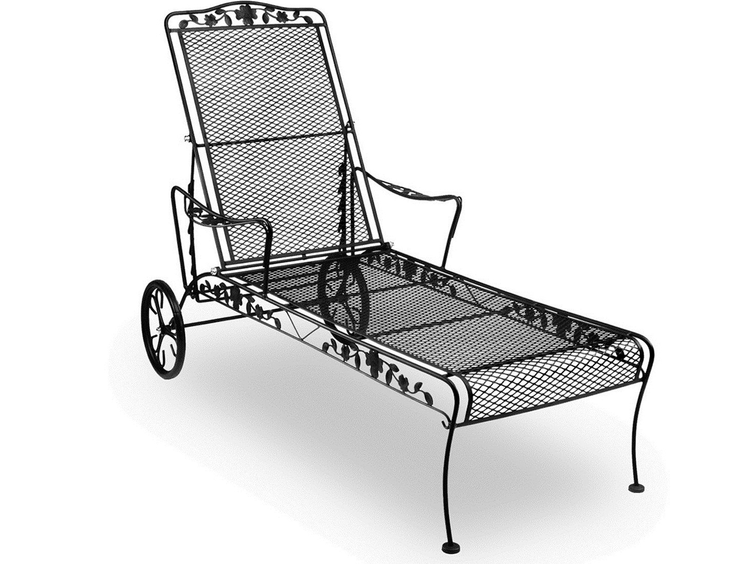 Most Up To Date Wrought Iron Chaise Lounge Replacement Wheels (View 4 of 15)