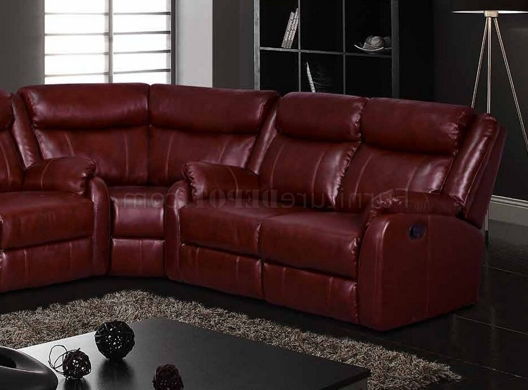 Motion Sectional Sofa In Burgundyglobal With Regard To Popular Motion Sectional Sofas (View 8 of 15)