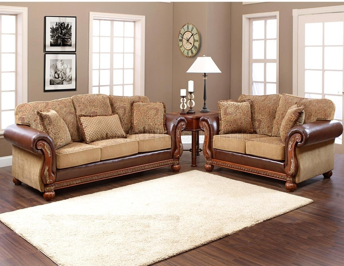 Multi Tone Fabric Classic Sofa & Loveseat Set W/options With Regard To Most Current Classic Sofas (View 14 of 15)