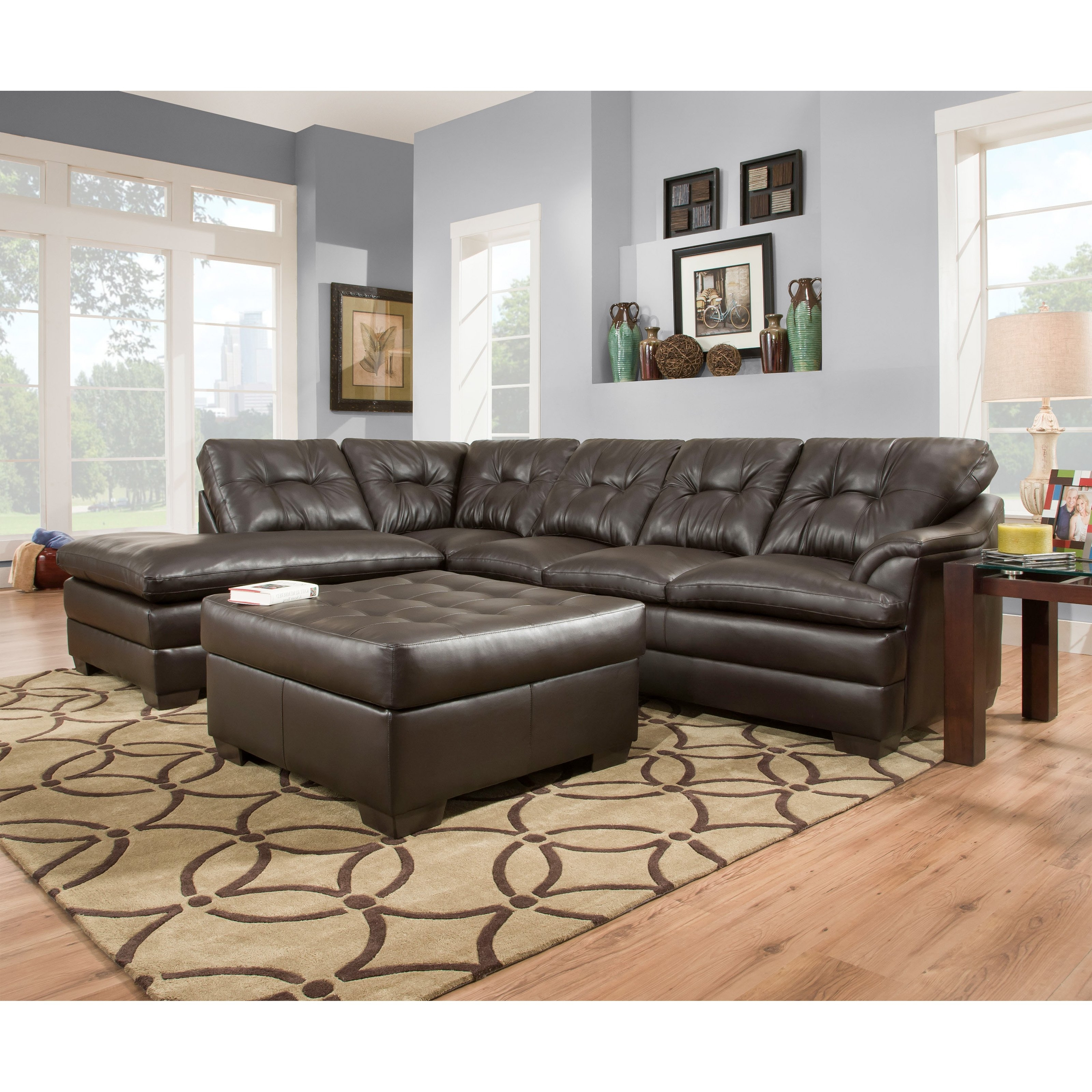 Nanaimo Sectional Sofas Regarding Well Known Simmons Upholstery Apollo Sectional With Optional Ottoman (View 6 of 15)