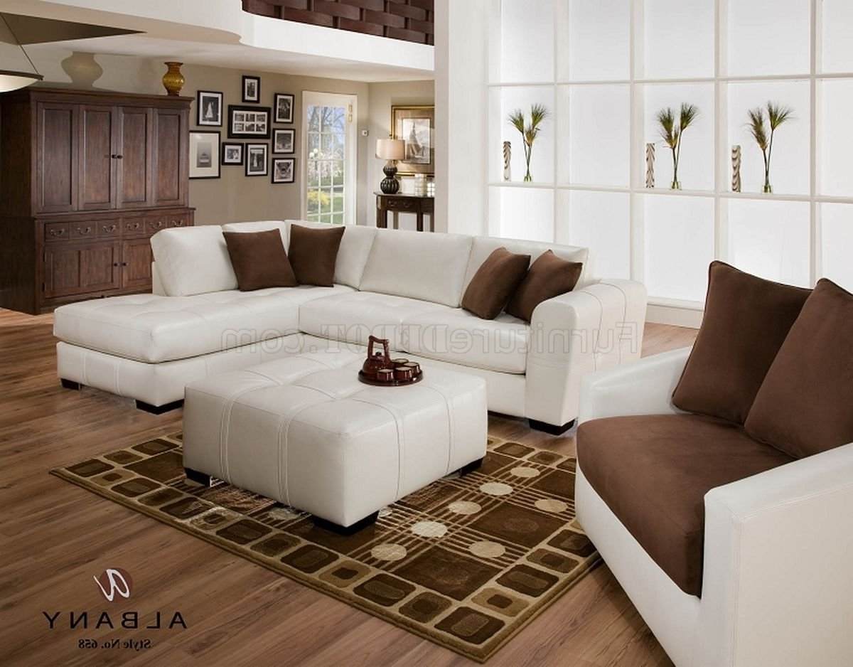 Naples White Leatherette Modern Sectional Sofa W/optional Items With Popular Naples Fl Sectional Sofas (View 10 of 15)