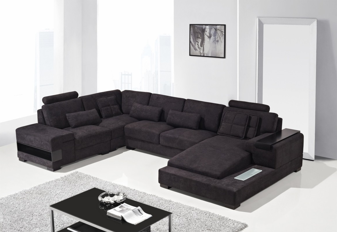 Nashua Nh Sectional Sofas Pertaining To Fashionable Divani Casa Diamond – Modern Fabric Sectional Sofa – Italmoda (View 7 of 15)