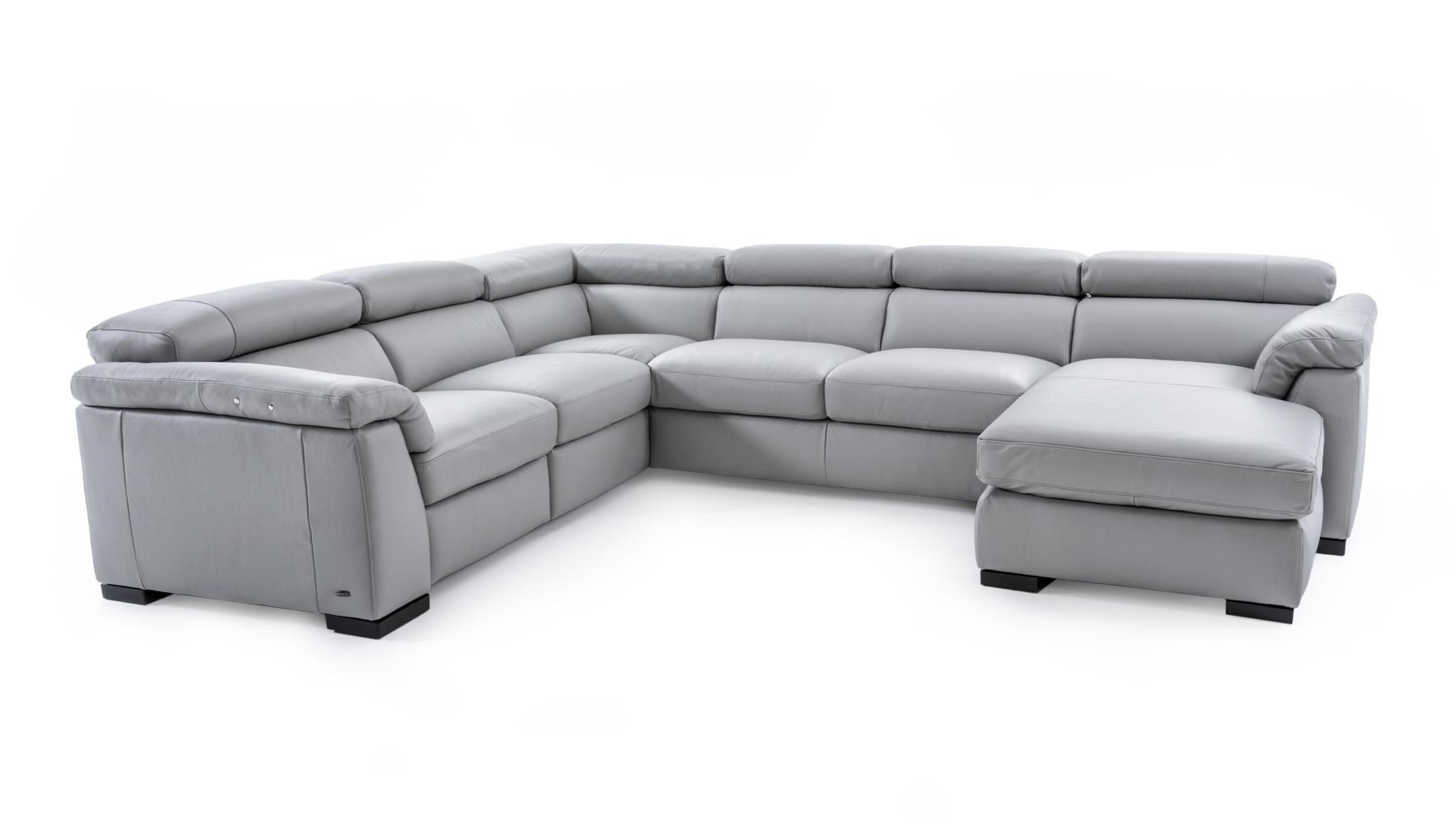 Natuzzi Sectional Sofas Within Well Known Natuzzi Editions B634 B634 Sect 1 Gray Contemporary Leather (View 11 of 15)