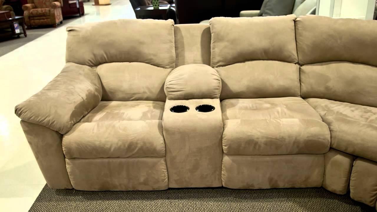 Nebraska Furniture Mart Sectional Sofas Pertaining To Latest Ashley Amazon Mocha Sectional – Youtube (View 7 of 15)