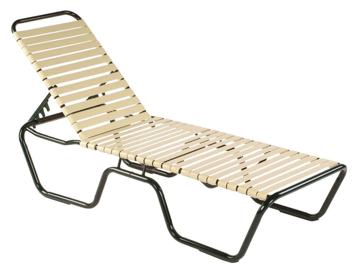 Neptune Vinyl Strap Chaise Lounge – Commercial Aluminum Frame Regarding Well Known Vinyl Strap Chaise Lounge Chairs (View 7 of 15)