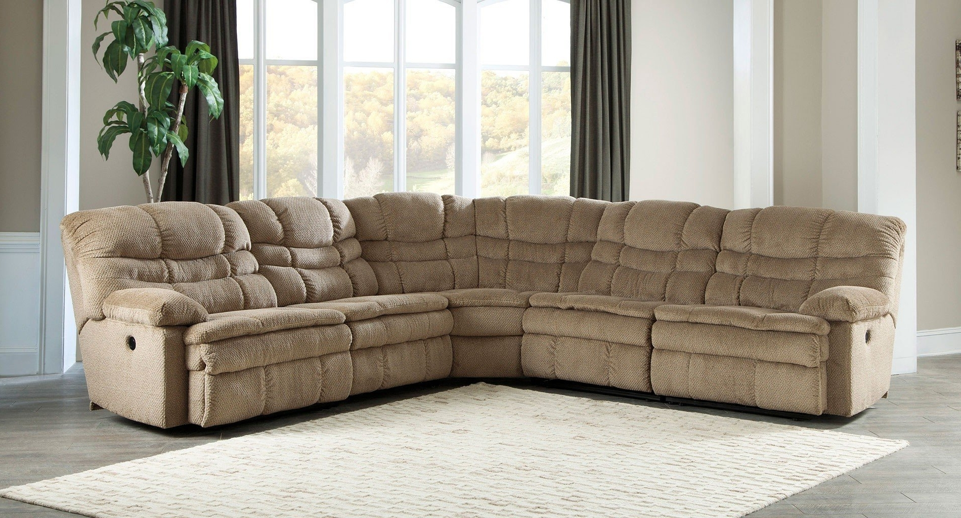 New Orleans Sectional Sofas Inside Newest Zavion Caramel Modular Reclining Sectional – Sectionals – Living (View 7 of 15)