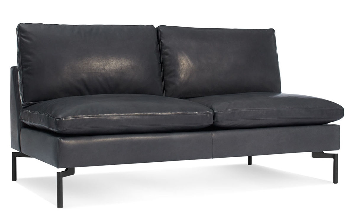 New Standard Armless Leather Sofa – Hivemodern Inside 2017 Small Armless Sofas (View 11 of 15)