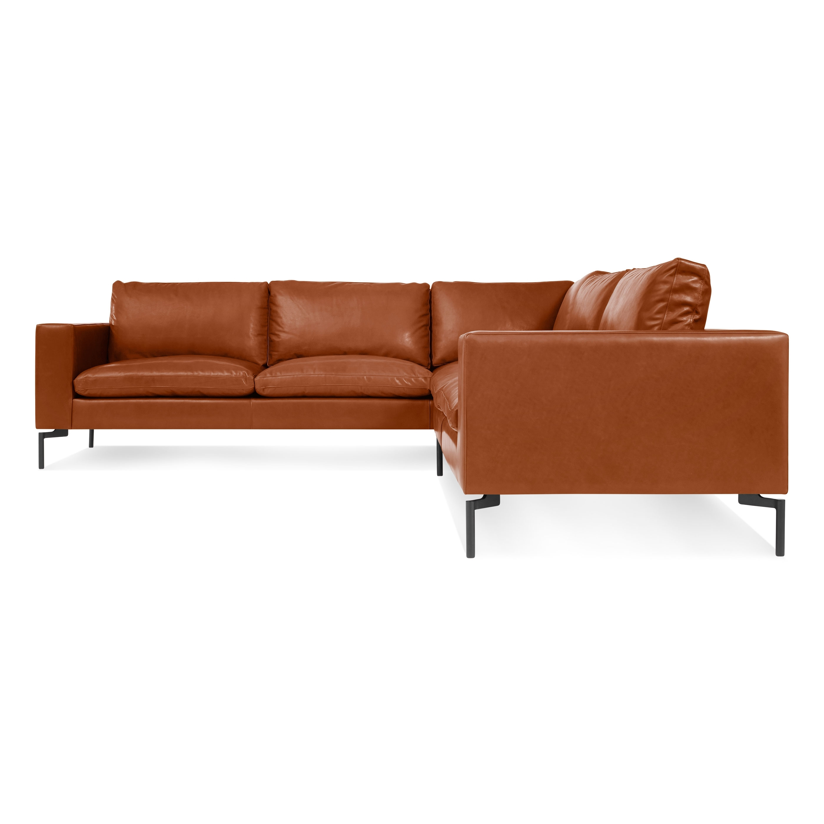 New Standard Small Leather Sectional – Modern Leather Sofa (View 13 of 15)