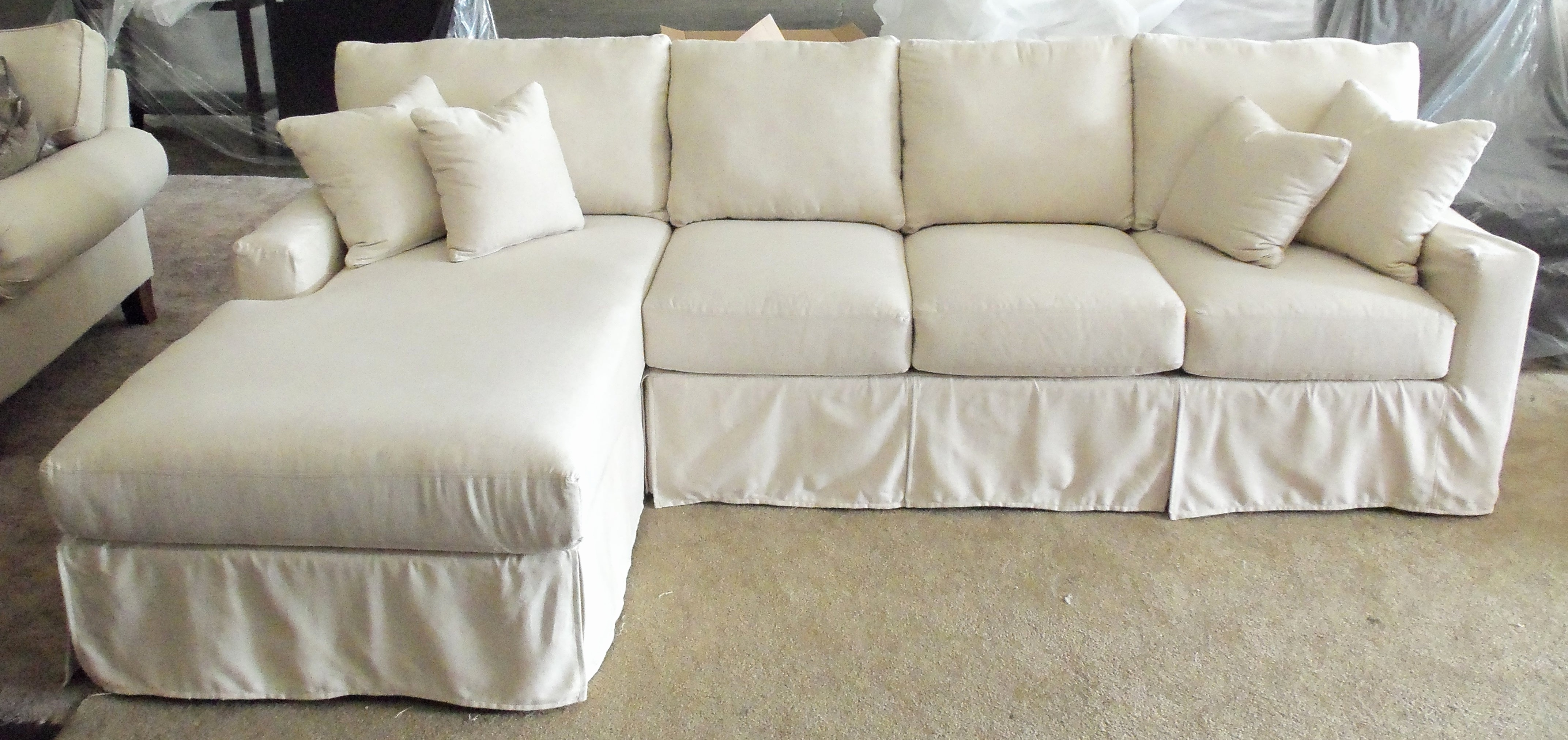 New White Slipcovered Sofa Ikea 2018 – Couches And Sofas Ideas Intended For Best And Newest Slipcovered Sofas With Chaise (View 7 of 15)
