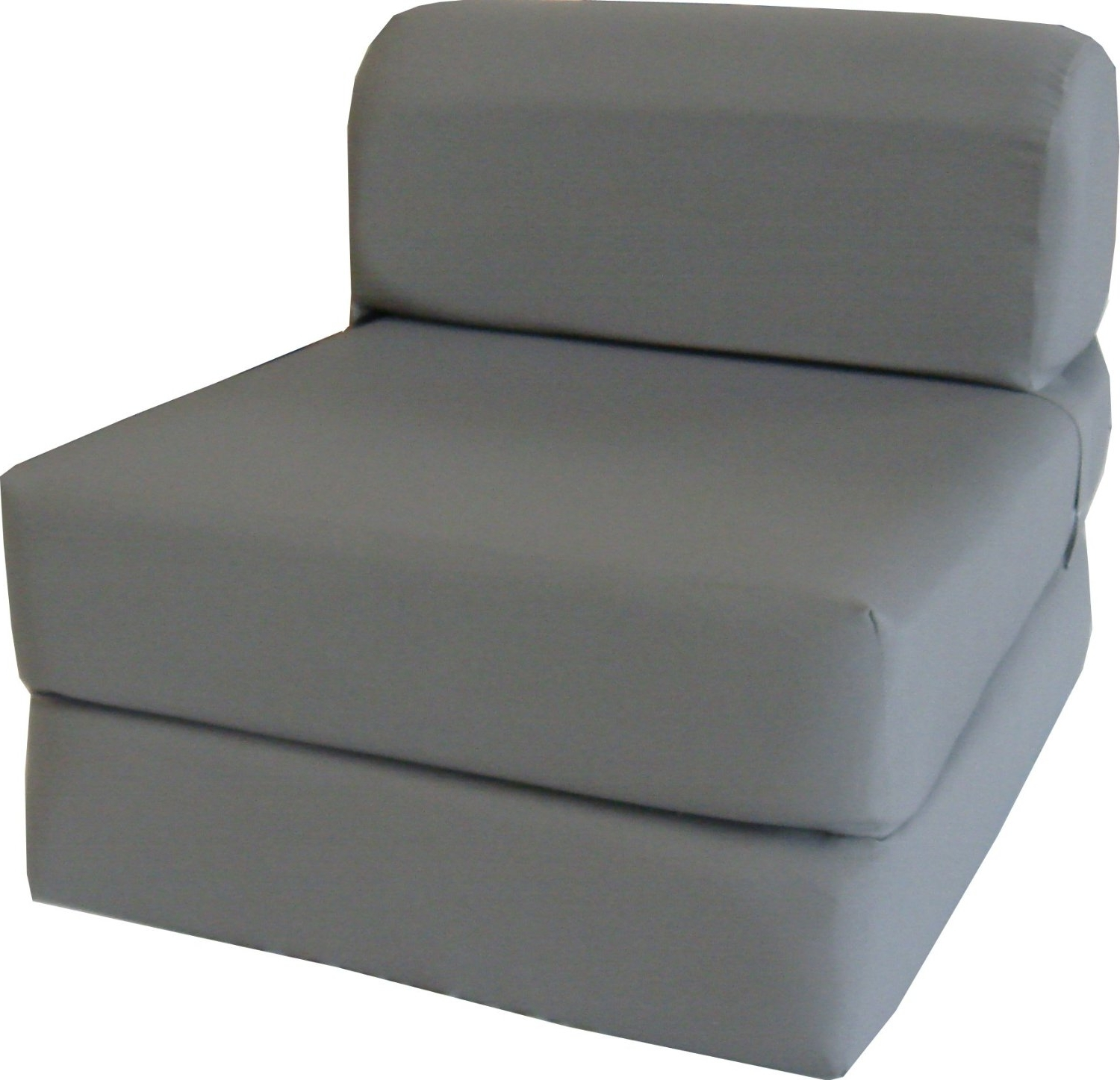 """Newest Amazon – Gray Sleeper Chair Folding Foam Bed Sized 6"""" Thick X With Regard To Pull Out Sofa Chairs (View 4 of 15)"""
