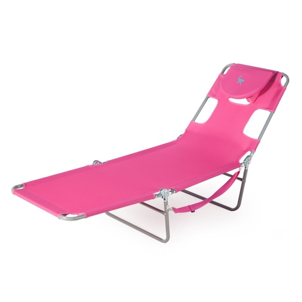 Newest Amazon: Ostrich Chaise Lounge, Pink: Garden & Outdoor Intended For Pink Chaise Lounges (View 8 of 15)