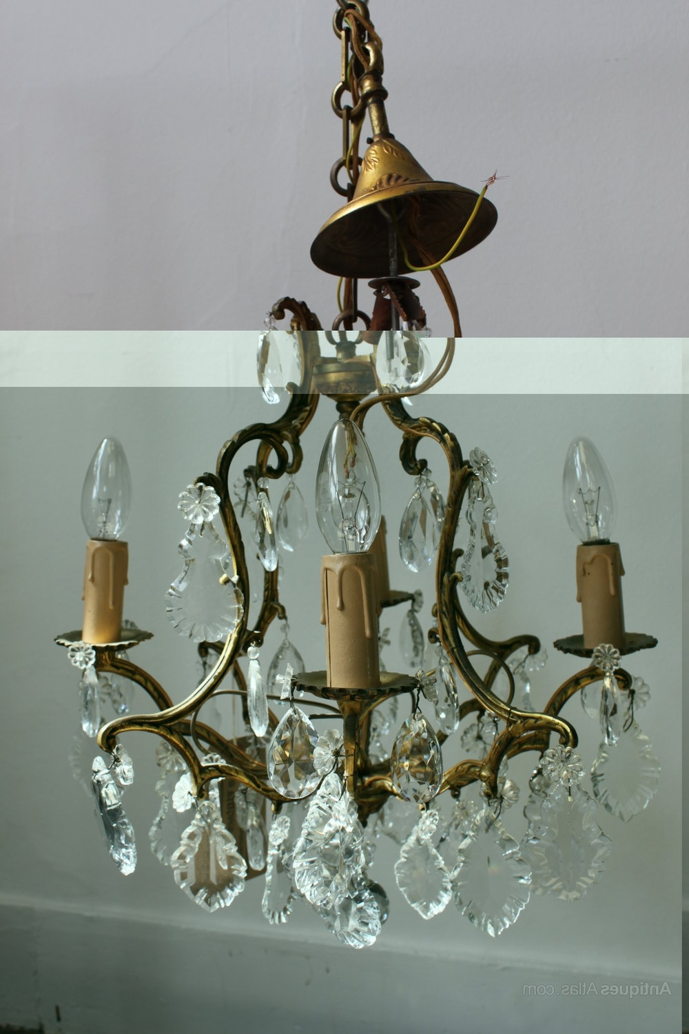 Newest Antique French Chandeliers Within Antiques Atlas – French Brass Chandelier (View 8 of 15)