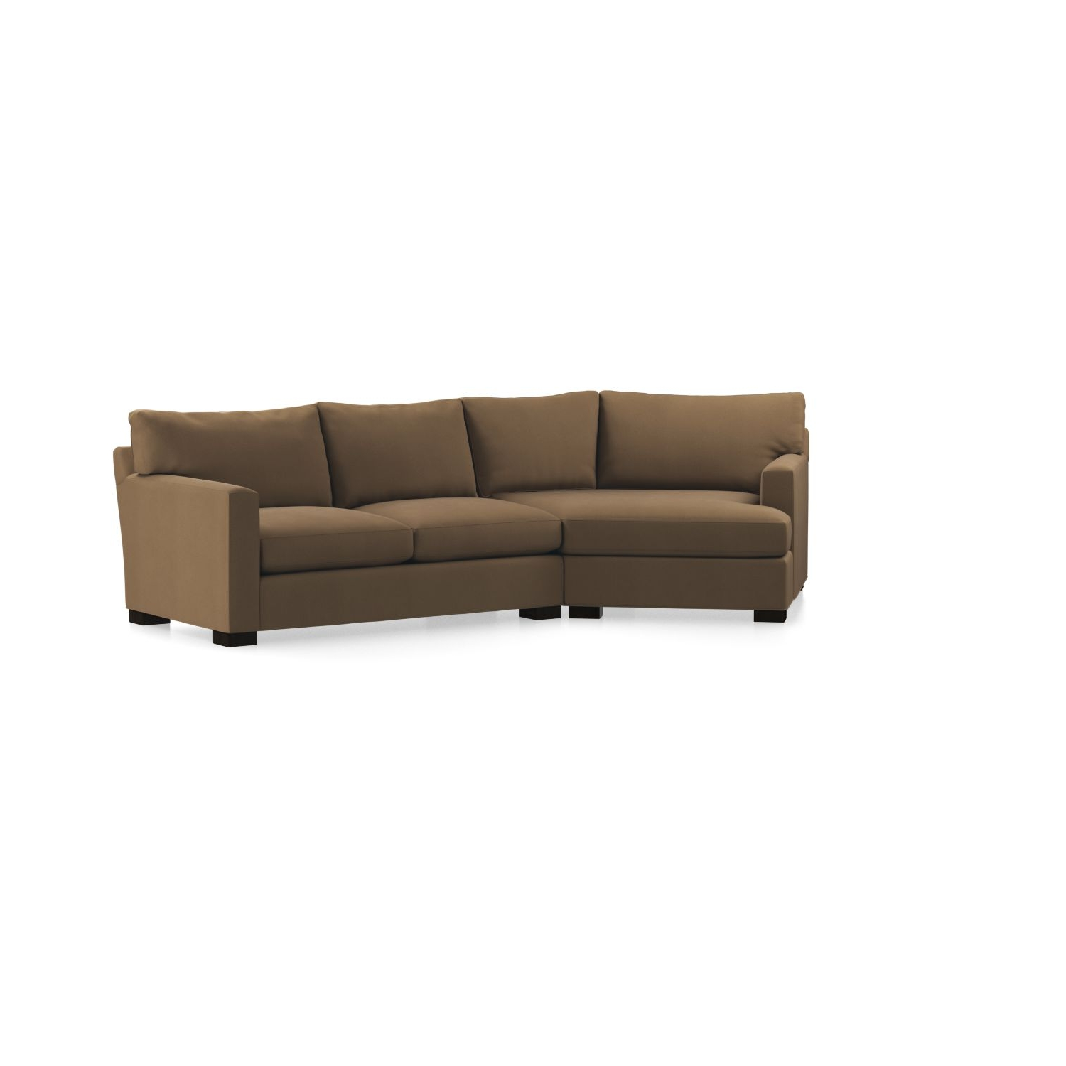 Newest Axis Ii 2 Piece Left Arm Angled Chaise Sectional Sofa In Axis Within Angled Chaise Sofas (View 8 of 15)