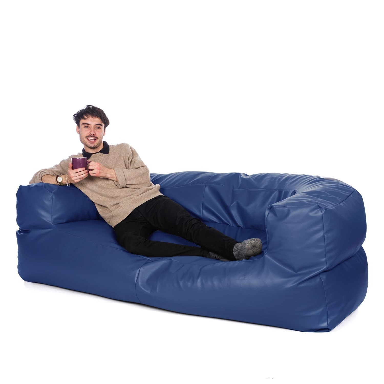 Newest Bean Bag Sofas And Chairs Throughout Big Bean Bag Couch Comforts You More Than You Expect – Furniture (View 2 of 15)