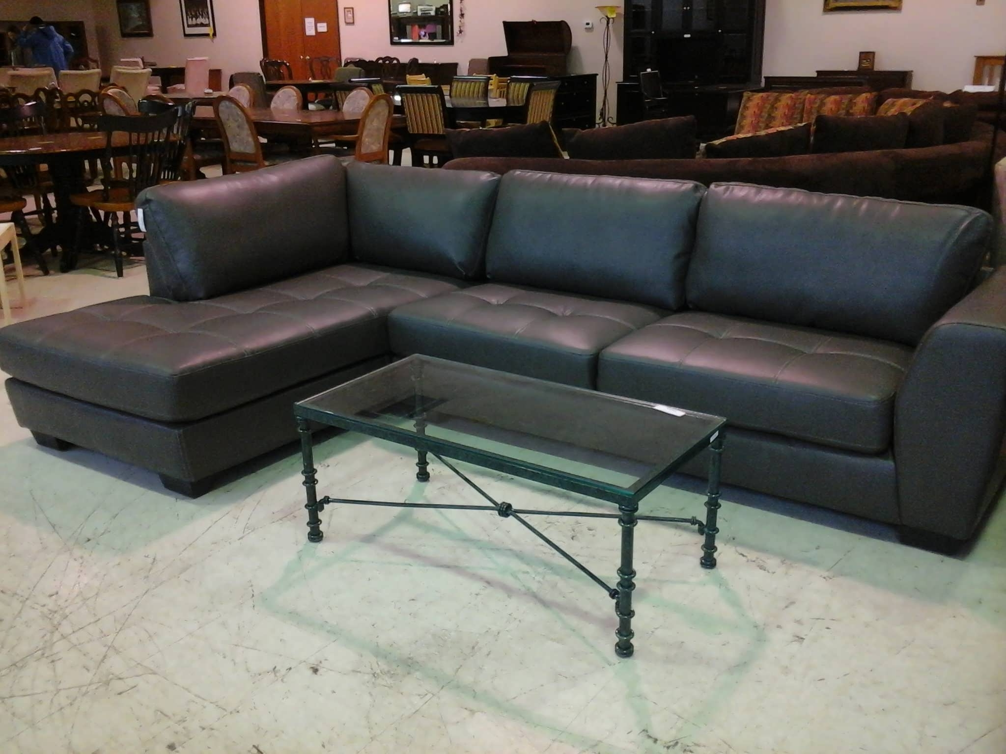 Newest Black Leather Sectionals With Chaise Inside Sofa : Sleeper Sectional Small Leather Sectional Sectional (View 11 of 15)