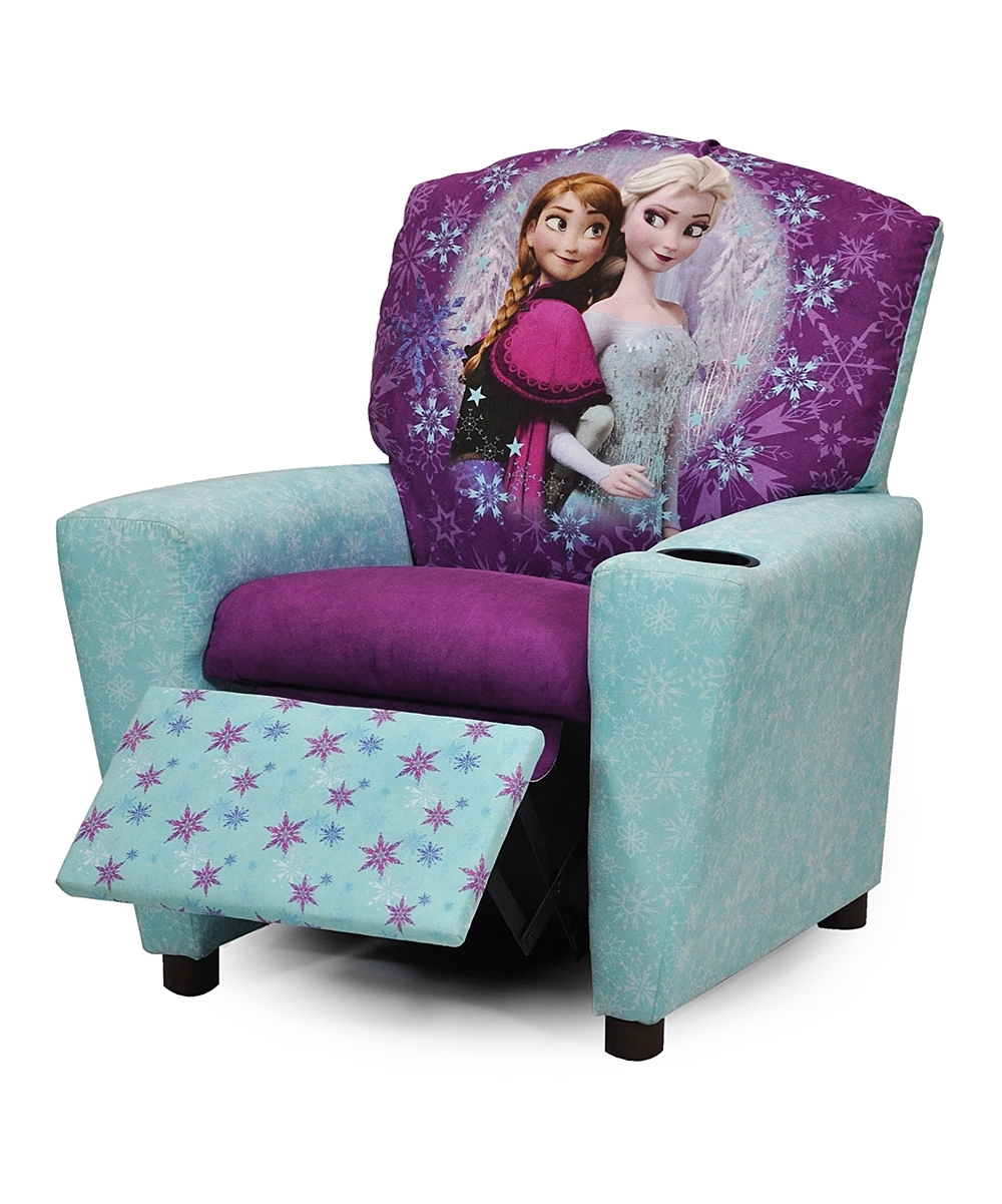 Newest Blue & Purple Frozen Recliner (View 13 of 15)