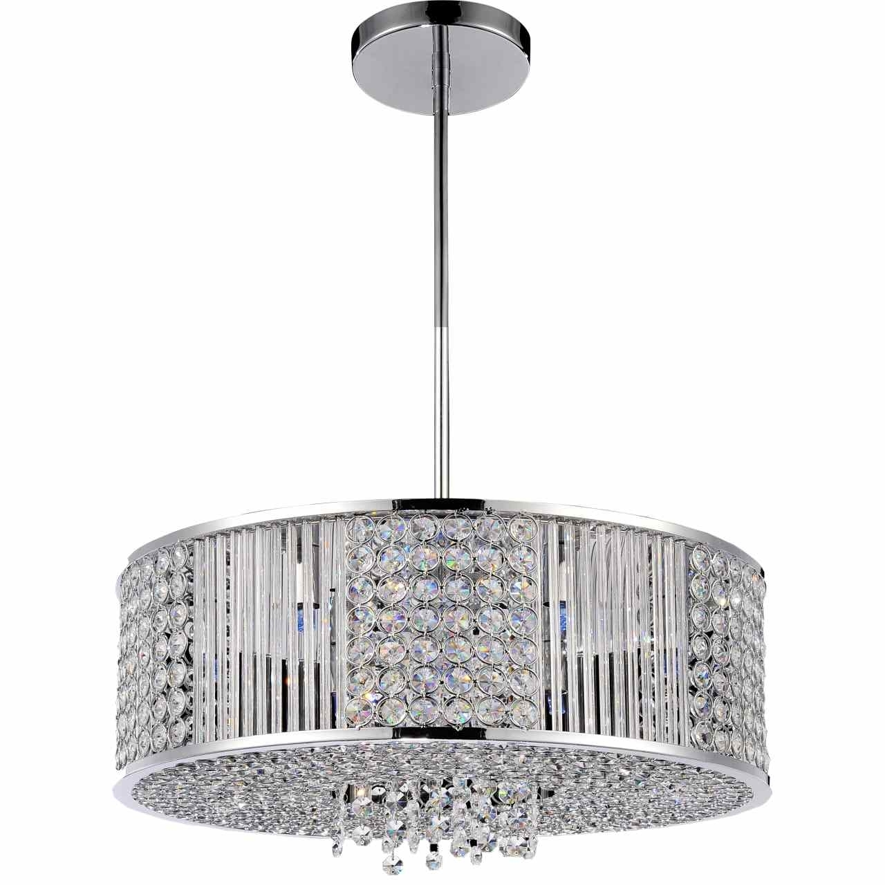 """Newest Brizzo Lighting Stores. 22"""" Cristallo Modern Crystal Round Pendant throughout Crystal And Chrome Chandeliers"""