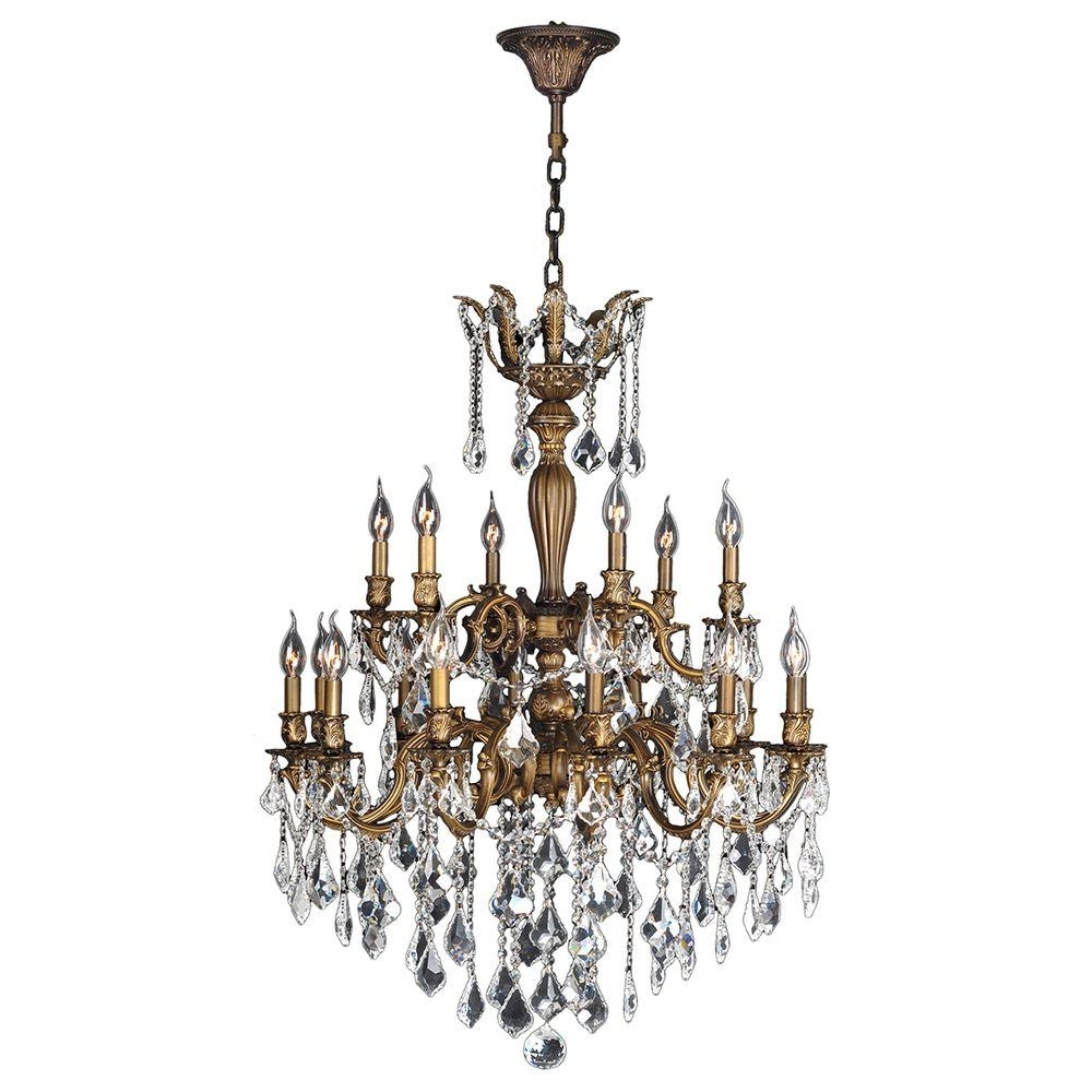 Newest Bronze And Crystal Chandeliers Intended For Worldwide Lighting Versailles 18 Light Antique Bronze Crystal (View 3 of 15)