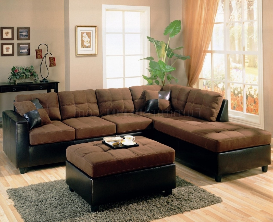 Newest Brown Sectional Sofa With Regard To Chocolate Brown Sectional Sofas (View 8 of 15)