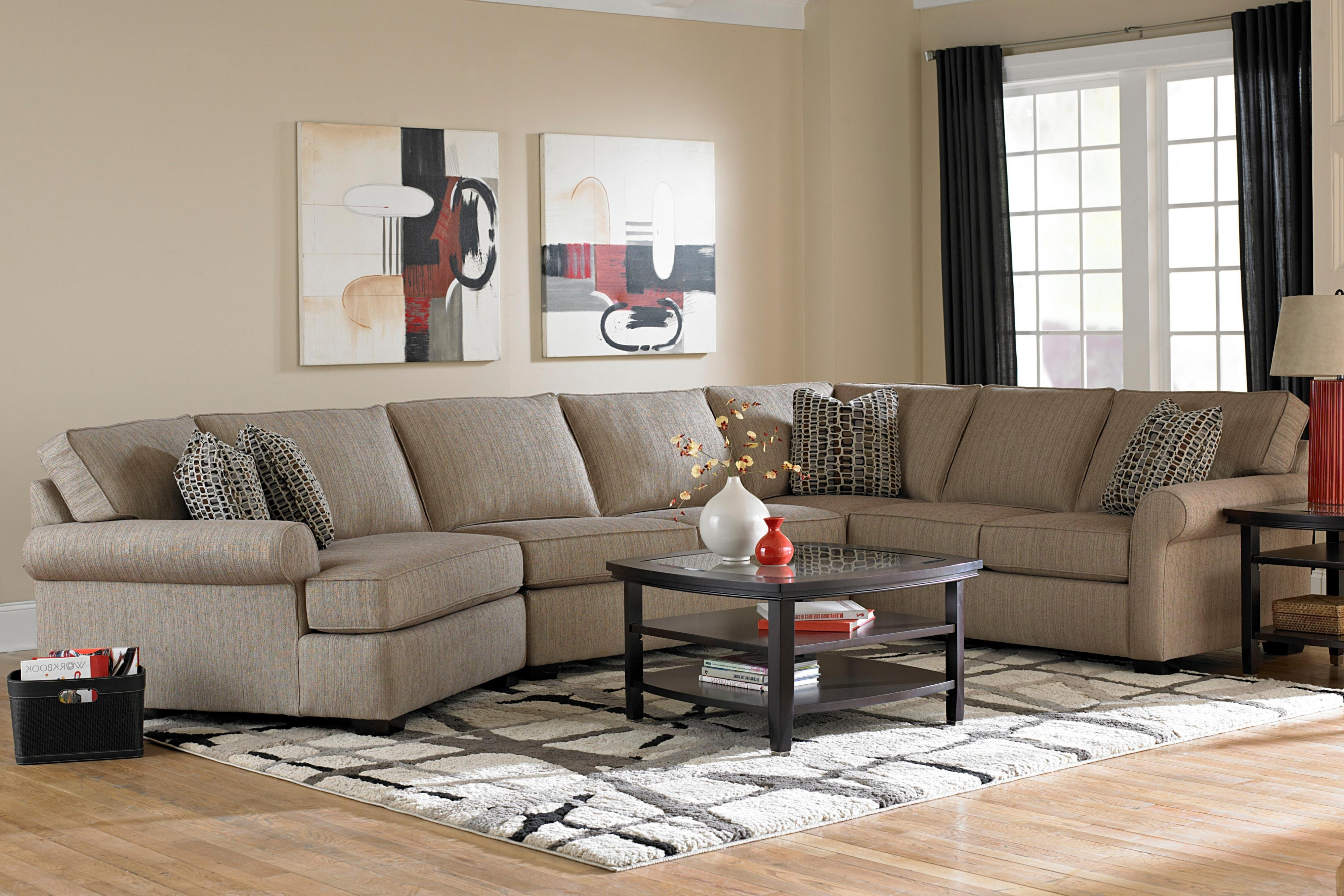 Newest Broyhill Furniture Ethan Transitional Sectional Sofa With Right For Pensacola Fl Sectional Sofas (View 14 of 15)