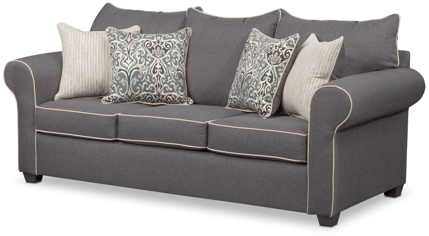 Newest Carla Sofa, Loveseat, And Accent Chair Set – Gray (View 6 of 15)