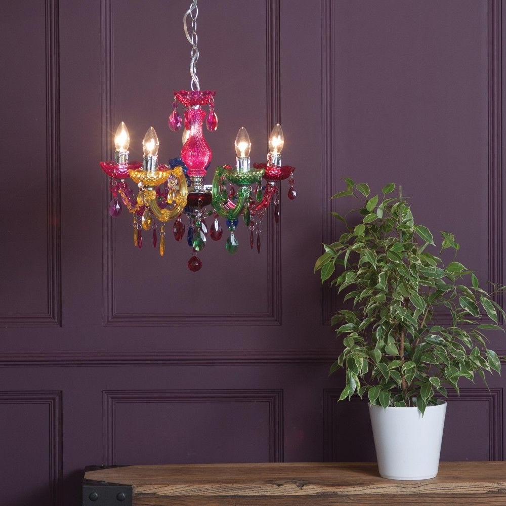 Newest Colourful Chandeliers With Regard To How To Make A Style Statement With Coloured Chandeliers – Litecraft (View 12 of 15)