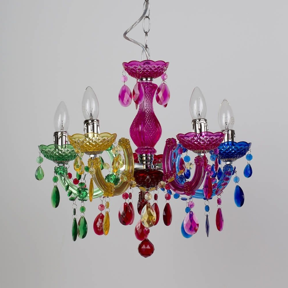 Newest Colourful Chandeliers With Regard To Marie Therese 5 Light Dual Mount Chandelier – Multicoloured (View 5 of 15)