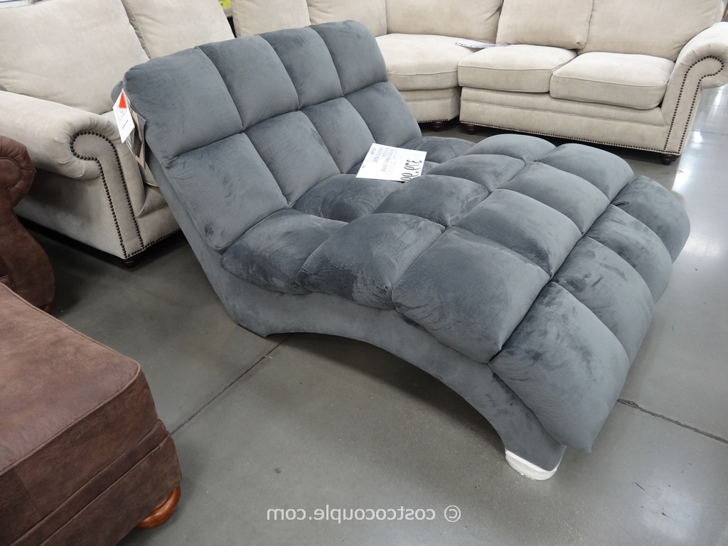 Newest Costco Chaise Lounges Inside Double Chaise Lounge Sofa 90 With Double Chaise Lounge Sofa (View 10 of 15)