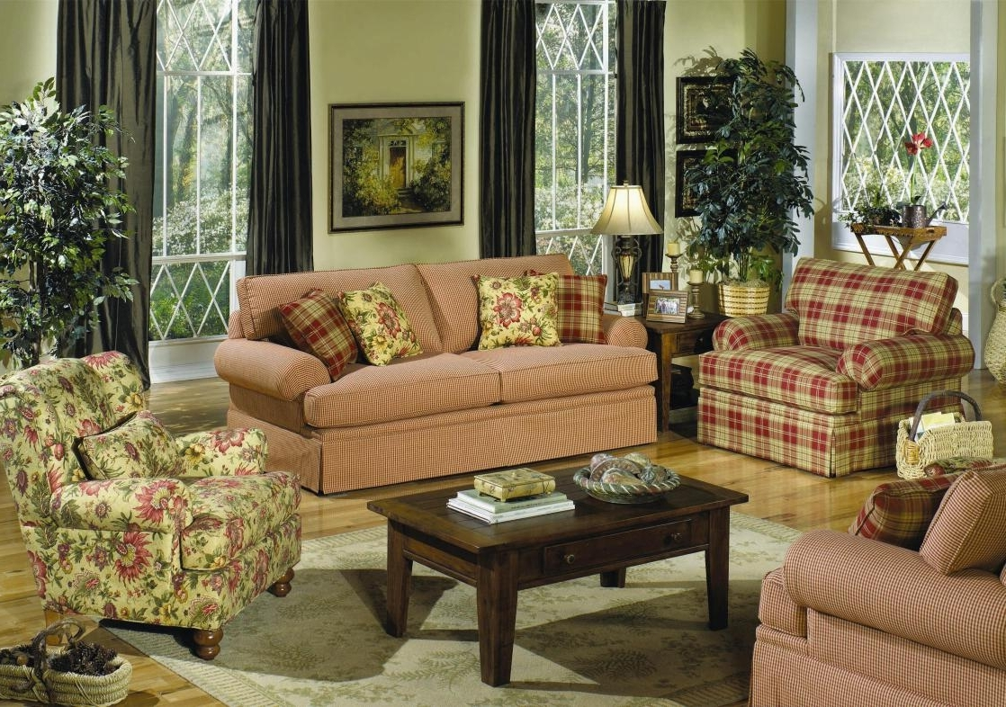 Newest Country Style Living Room Furniture Cottage Style Sofas Living Pertaining To Cottage Style Sofas And Chairs (View 2 of 15)