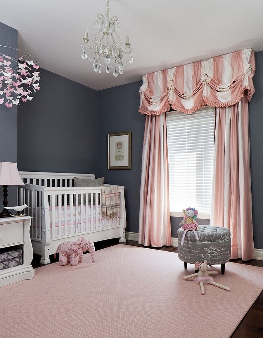 Newest Crystal Chandeliers For Baby Girl Room Pertaining To Bedroom Classic Crystal Chandelier For Baby Nursery With White Crib (View 3 of 15)