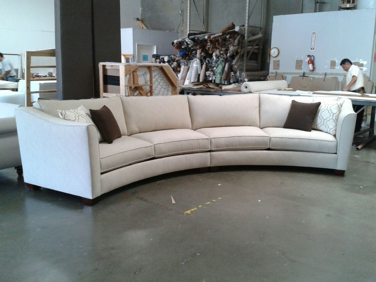 Newest Curved Sectional Sofa Design — Cabinets, Beds, Sofas And Throughout Rounded Sofas (View 8 of 15)