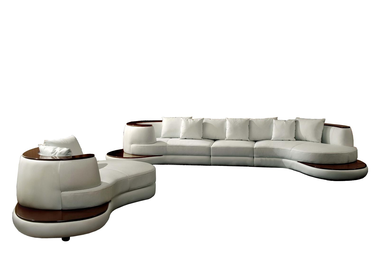 Newest Divani Casa Rodus – Rounded Corner Leather Sectional Sofa With With Rounded Sofas (View 10 of 15)