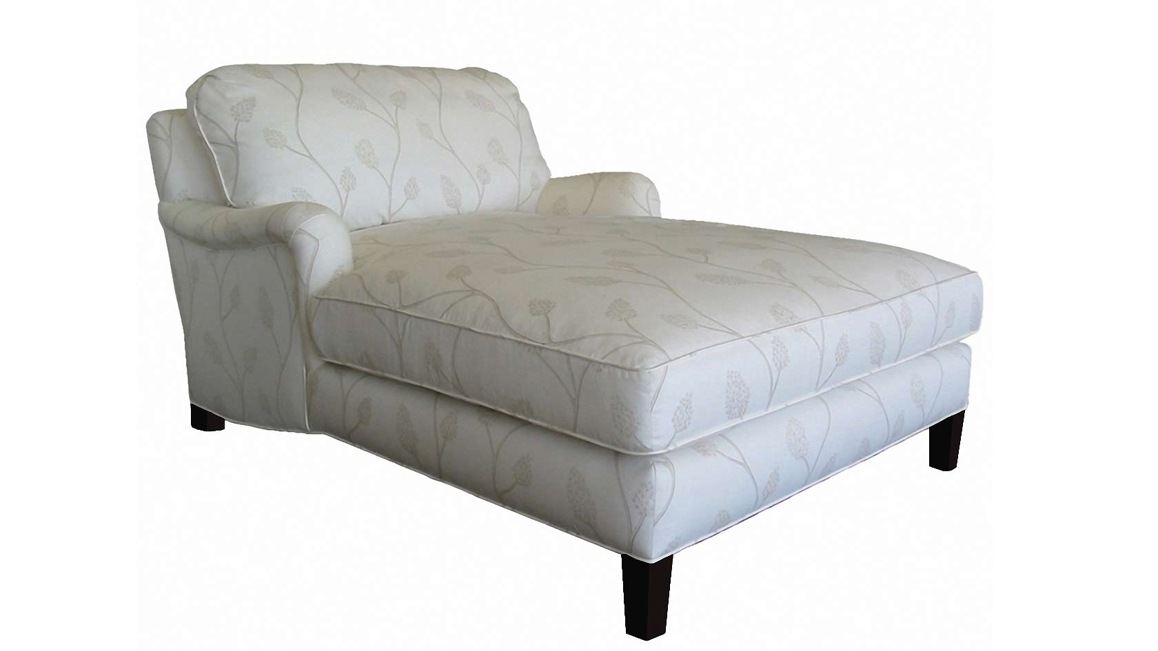 Newest Double Arm Chaise Lounge Contemporary Chair Slipcovers With Arms Throughout Chaises With Arms (View 13 of 15)