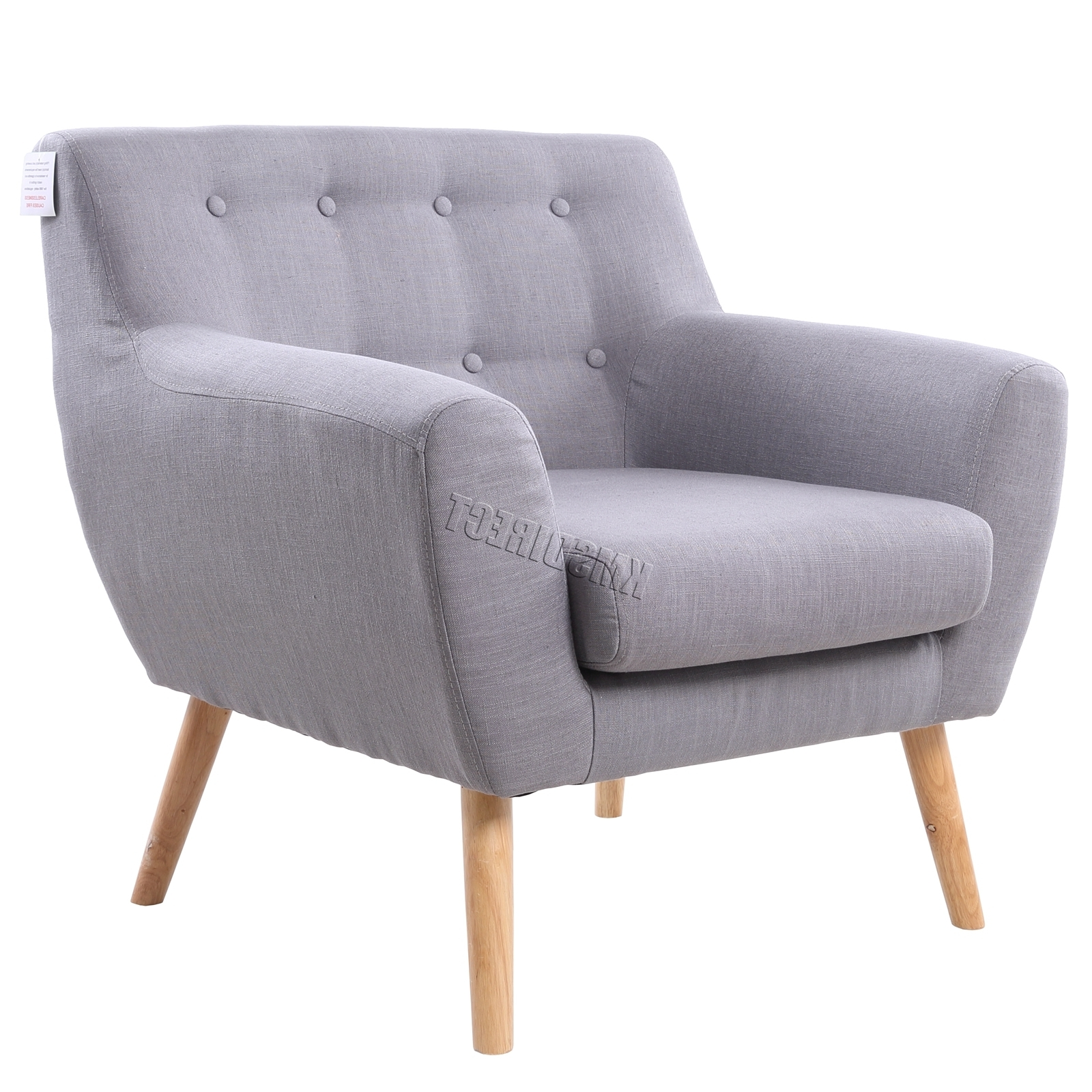 Newest Foxhunter Linen Fabric 1 Single Seat Sofa Tub Armchair Dining Room Throughout Single Seat Sofa Chairs (View 6 of 15)