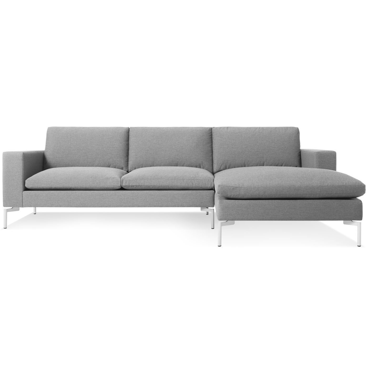 Newest Grey Chaise Sofas With Regard To New Standard Modern Chaise Sofa – Left Chaise (View 3 of 15)