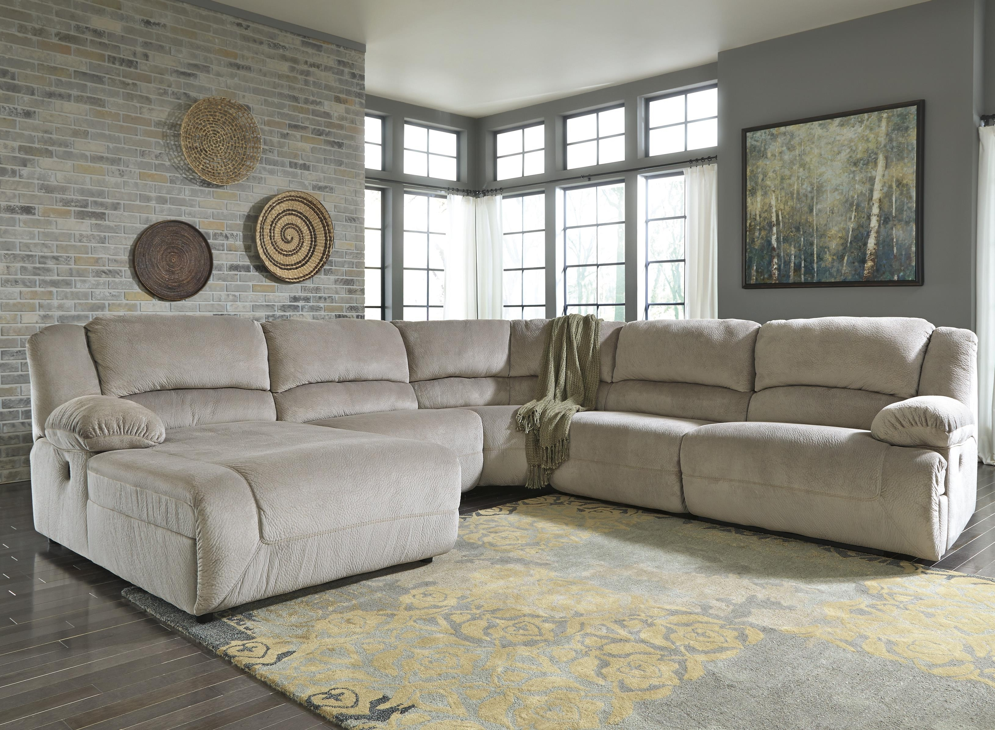 Newest Harrisburg Pa Sectional Sofas In Power Reclining Sectional With Right Press Back Chaise (View 2 of 15)