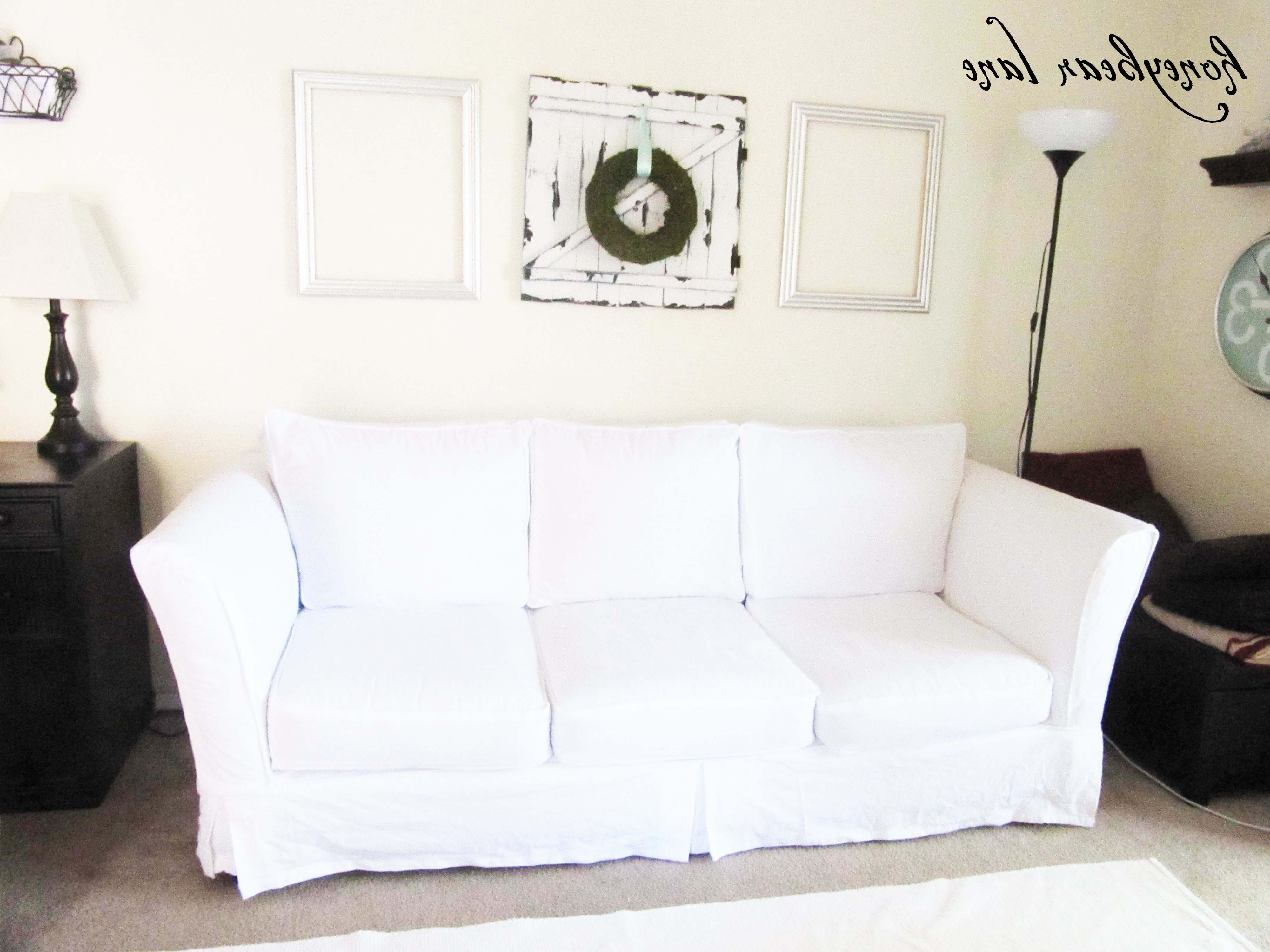 Newest How To Make A Couch Slipcover (Part 1) With Regard To Slipcovers Sofas (View 6 of 15)