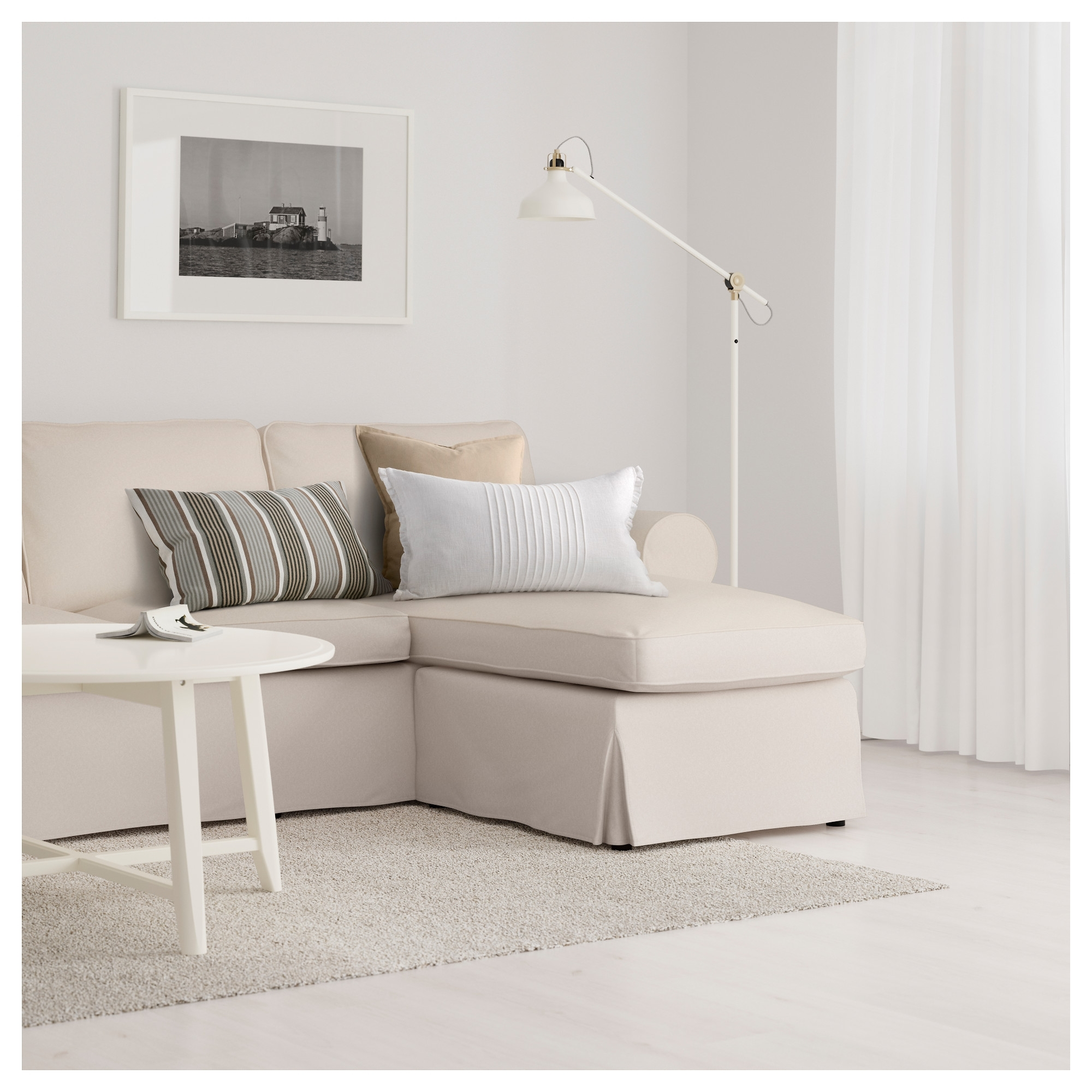 Newest Ikea Ektorp Loveseat Chaises Throughout Ektorp Sofa – With Chaise/nordvalla Light Blue – Ikea (View 12 of 15)