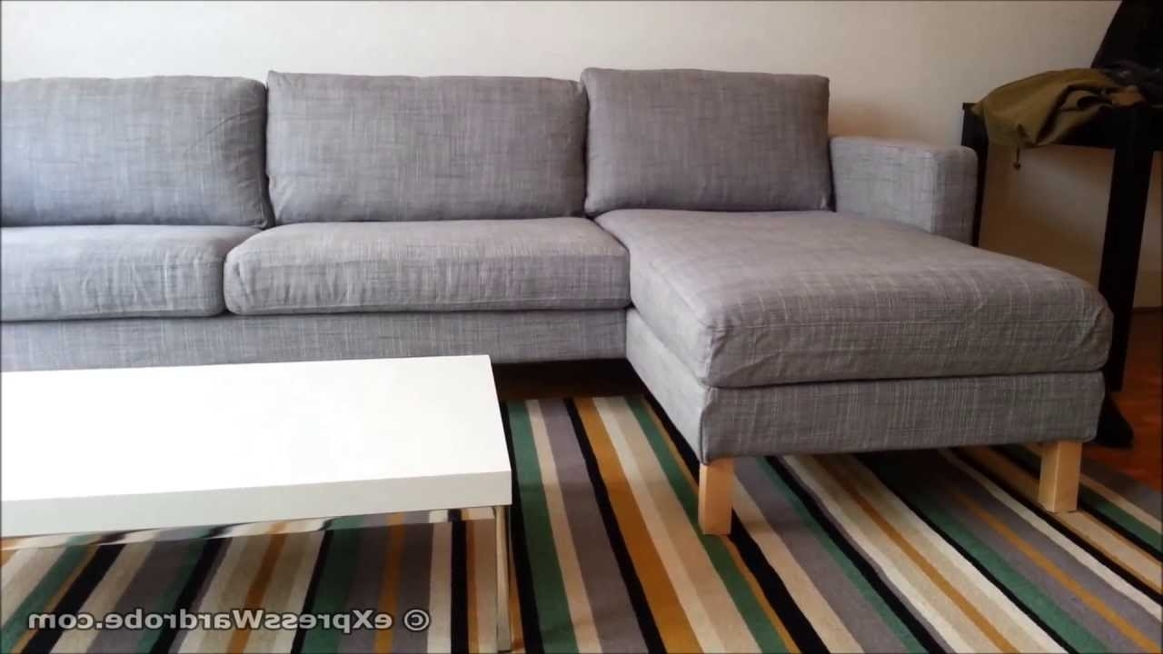 Newest Ikea Karlstad Sofa And Chaise Longue Design – Youtube Throughout Ikea Chaise Sofas (View 10 of 15)