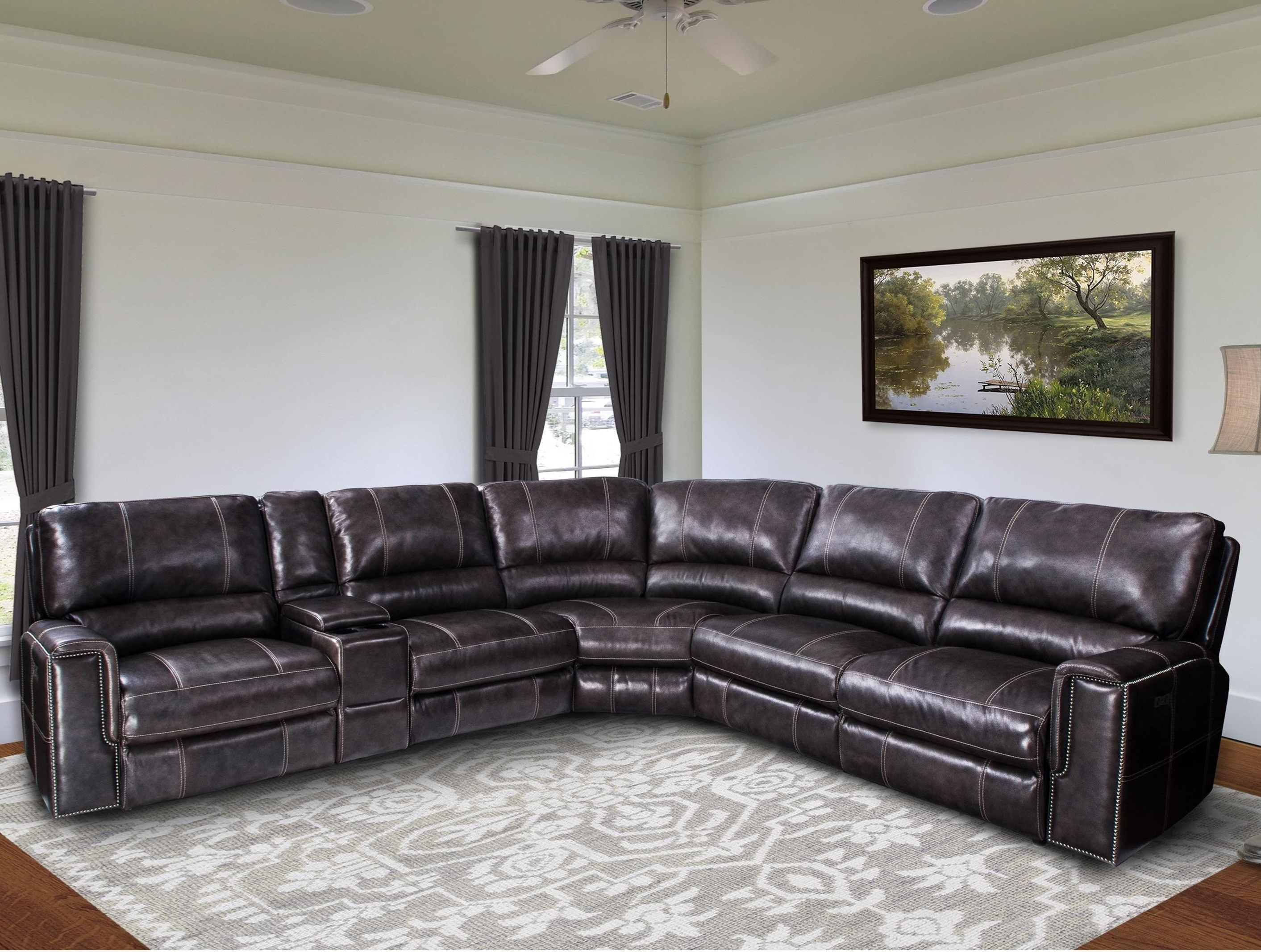 Newest Jerome's Sectional Sofas For Jerome Casual Power Reclining Sectional Sofa With Power Headrests (View 6 of 15)