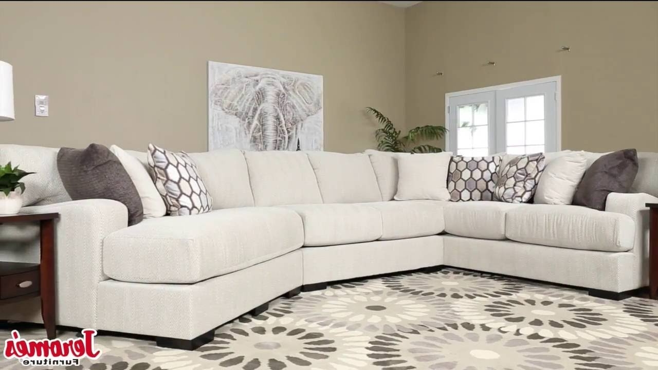 Newest Jerome's Sectional Sofas Pertaining To Jerome's Furniture Dunes Sectional – Youtube (View 11 of 15)