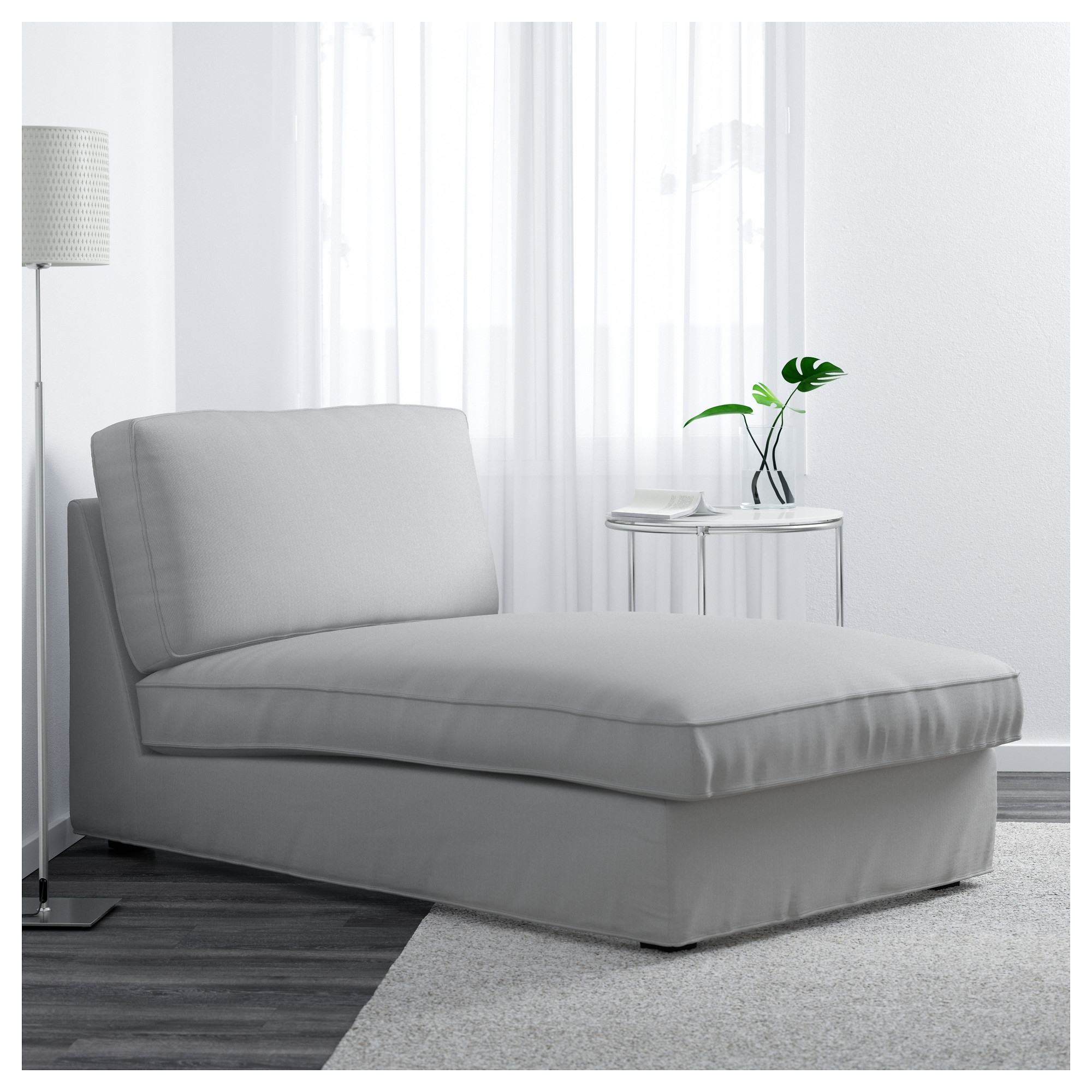 Newest Kivik Chaise Longue Ramna Light Grey – Ikea Intended For Kivik Chaises (View 11 of 15)