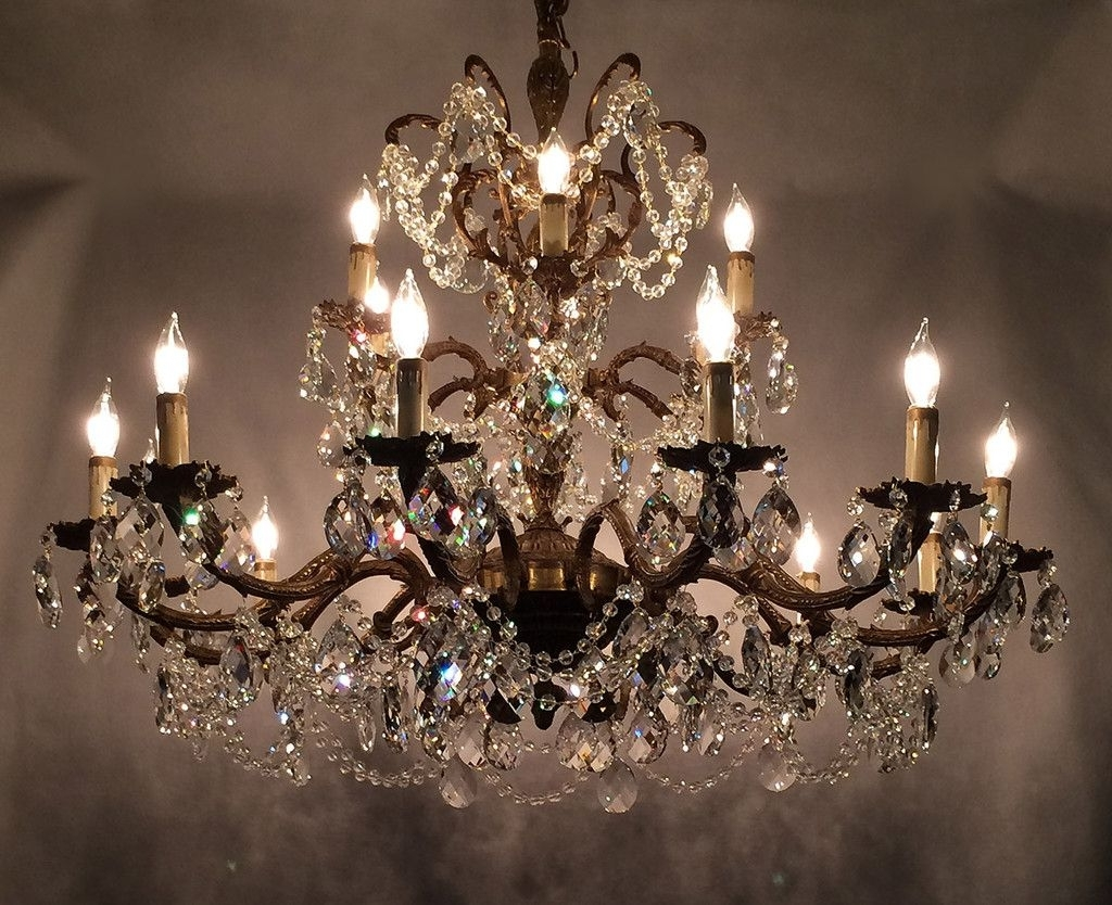 Newest Learn Trade Secrets Restoring Old Antique Brass Chandeliers For Crystal And Brass Chandelier (View 3 of 15)