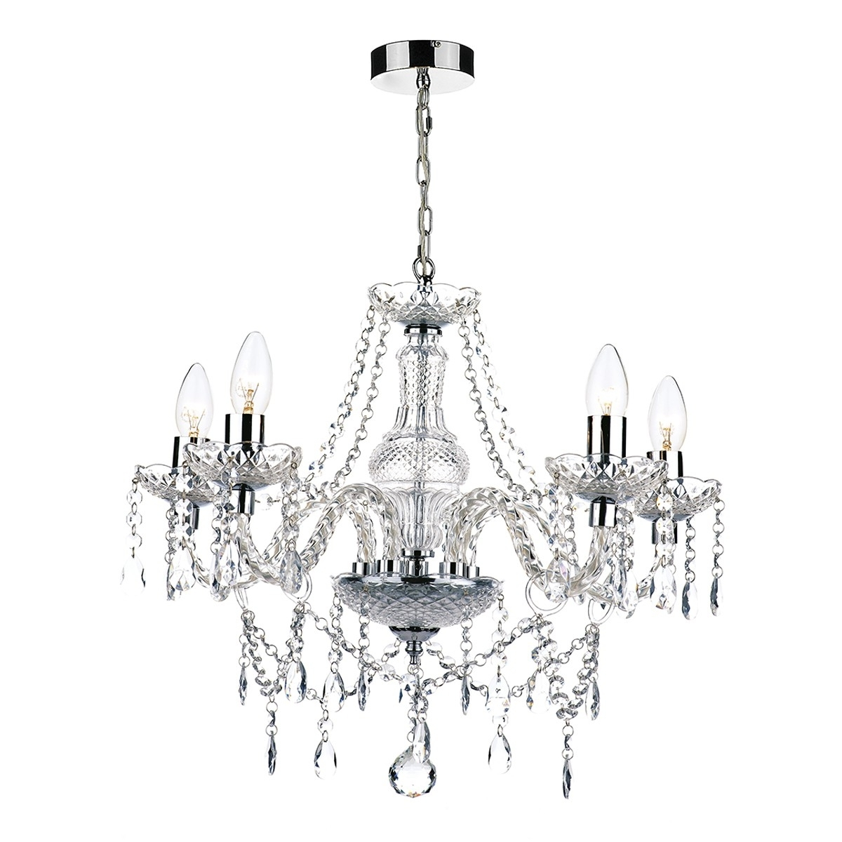 Newest Light : Light Chandelier Katie Polished Chrome Acrylic Glass Silver With Acrylic Chandeliers (View 11 of 15)