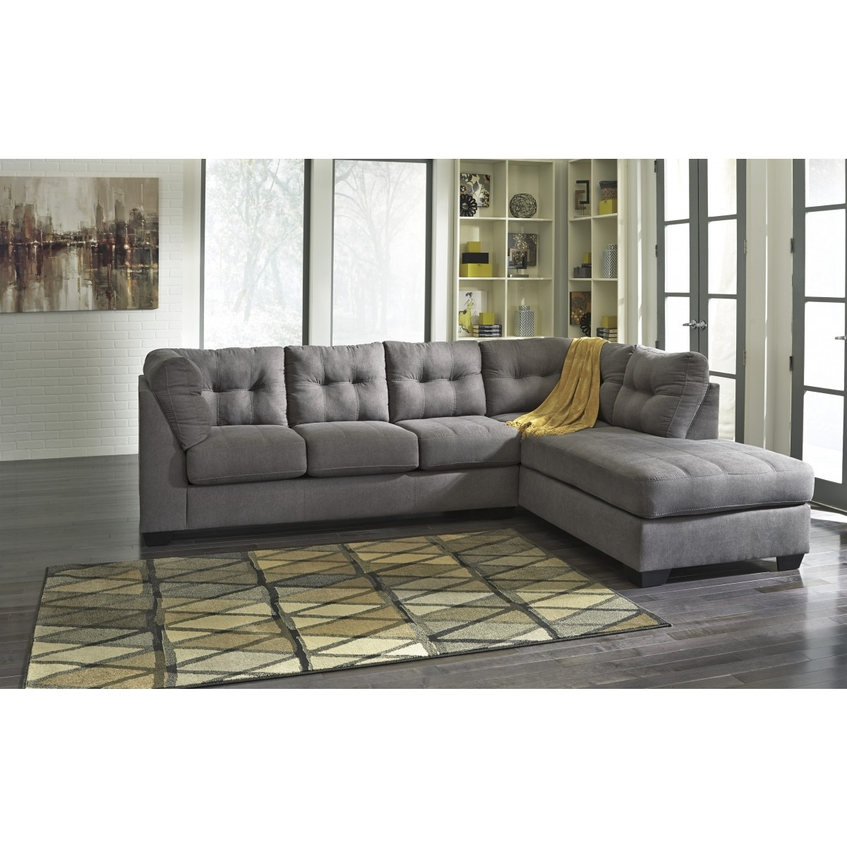 Newest Maier Charcoal Corner Chaise Sectional For Sectional Chaises (View 8 of 15)