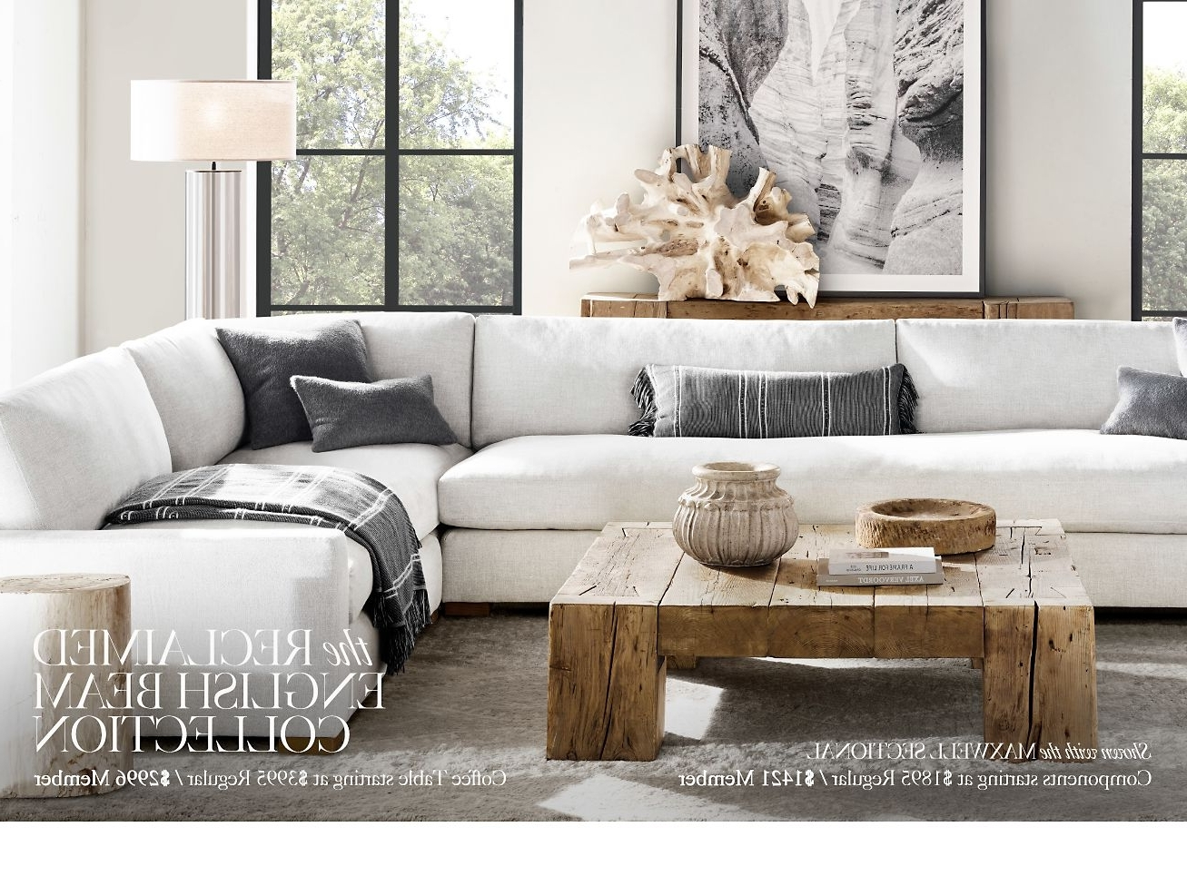 Newest Maxwell Sectional Sofa U2013 Home Design Ideas And Pictures With Regard  To Restoration Hardware Sectional