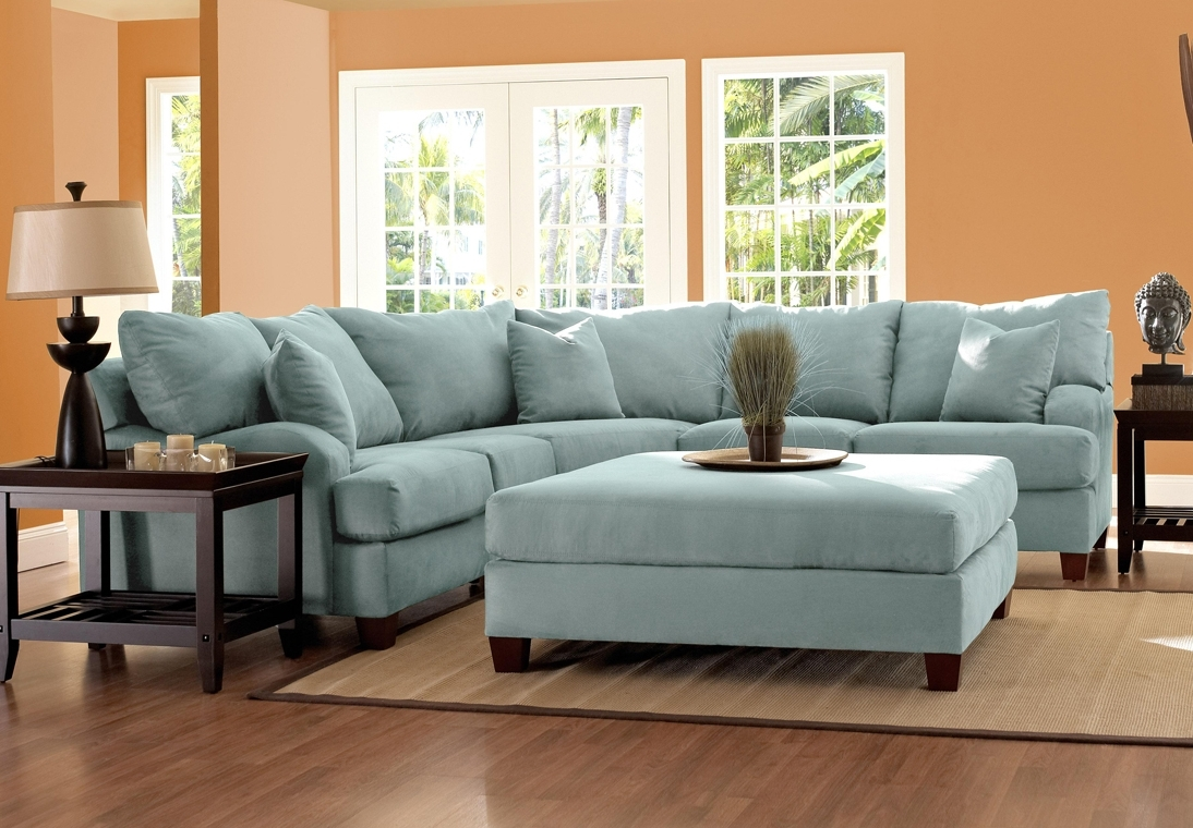 Newest Microfiber Sectional Sofas With Regard To Blue Microfiber Sectional Sofa – Cleanupflorida (View 10 of 15)