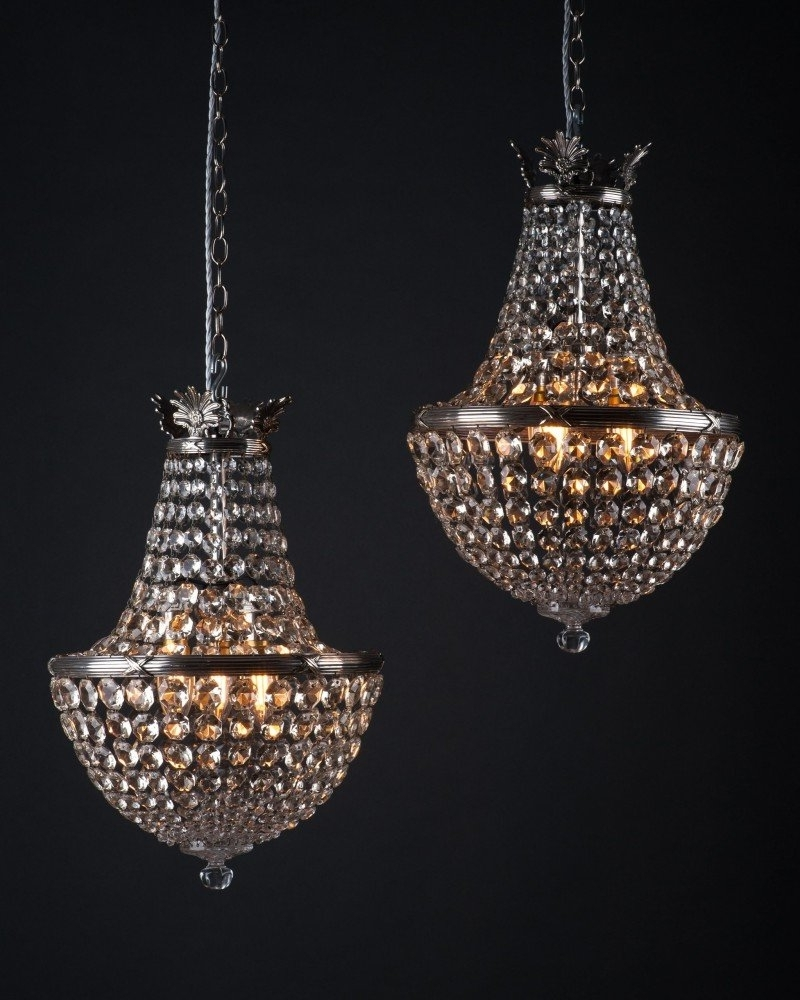 Newest Of Antique Crystal Bag Chandeliersfaraday, Antique Lighting Throughout Edwardian Chandeliers (View 14 of 15)